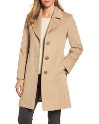 Fleurette - Notch Collar Wool Walking Coat - Lyst
