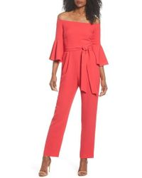 Eliza J | Off The Shoulder Jumpsuit | Lyst