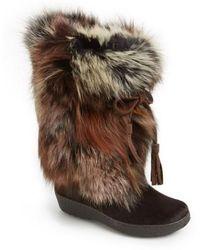 Pajar - 'fox Trot' Genuine Fox Fur & Calf Hair Boot - Lyst