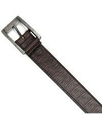 Boconi - Burnished Calfskin Leather Belt - Lyst