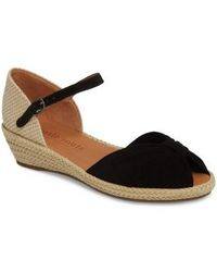 Kenneth Cole Gentle Souls Women's Gisele Nubuck Leather Platform Wedge Sandals 50gFR