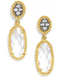 Freida Rothman - Frieda Rothman Oval Drop Earrings - Lyst