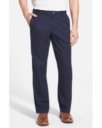 Cutter & Buck - 'beckett' Straight Leg Washed Cotton Pants - Lyst