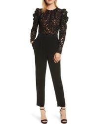 MICHAEL Michael Kors - Black Lace Jumpsuit - Lyst