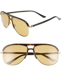 cada61956bb Lyst - Gucci Aviator Sunglasses in Blue for Men