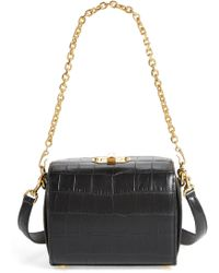 Alexander McQueen - Box Bag 19 Croc Embossed Leather Bag - Lyst