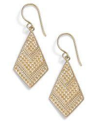 Anna Beck - Gold Kite Drop Earrings - Lyst