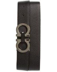 Ferragamo - Reversible Double Gancio Belt - Lyst