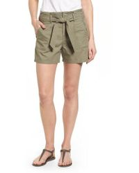Caslon | Caslon Belted Twill Shorts | Lyst