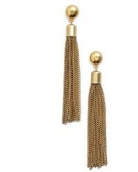 Karine Sultan | Tassel Drop Earrings | Lyst