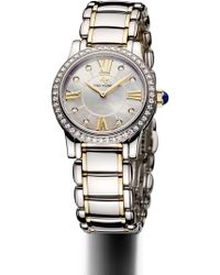 David Yurman - 'classic' 30mm Stainless Steel Quartz With Diamond Bezel And Gold - Lyst
