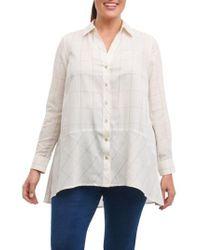 Foxcroft - Daniela Windowpane Tunic Shirt - Lyst
