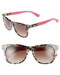 Kate Spade - Charmine 53mm Gradient Lens Sunglasses - Havana/ Pink - Lyst