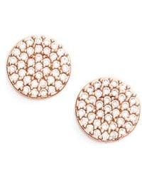 Nadri - 'geo' Stud Earrings - Lyst