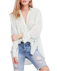 Free People - Fearless Love Bell Sleeve Shirt - Lyst