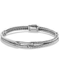 David Yurman Petite Pavé Labyrinth Single - Loop Bracelet With Diamonds