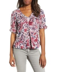 Lucky Brand - Floral Print Top - Lyst