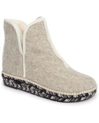 Toni Pons - Espadrille Platform Bootie With Faux Fur Lining - Lyst