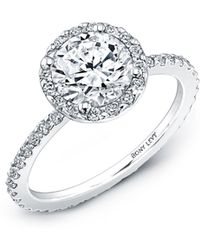 Bony Levy - Pave Halo Round Engagement Ring Setting (nordstrom Exclusive) - Lyst