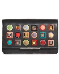 Fendi | Rainbow Studded Leather Tube Wallet On A Chain | Lyst