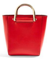 TOPSHOP - Lacey Metal Top Handle Shoulder Bag - - Lyst