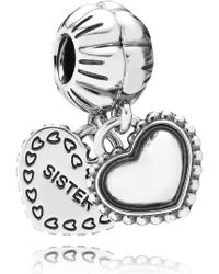 PANDORA - My Special Sister Dangle Charm - Lyst