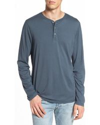 AG Jeans | Clyde Slim Fit Long Sleeve Henley | Lyst