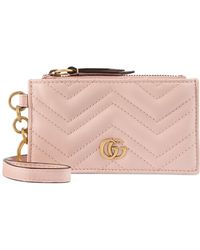 Gucci - Marmont 2.0 Leather Card Case - Lyst
