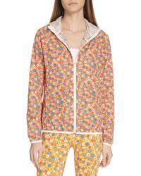Tory Sport - Floral Print Waterproof Packable Jacket - Lyst