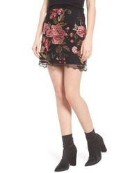Band Of Gypsies   Sunset Embroidered Skirt   Lyst