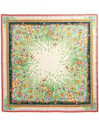 Gucci - Liberty Flowers Fouland Silk Square Scarf - Lyst