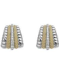 Lagos - Diamond Lux Graduated Stud Earrings - Lyst
