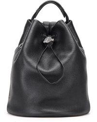 Kara - Moon Drawcord Leather Backpack - - Lyst