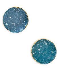 Panacea - Drusy Stud Earrings - Lyst