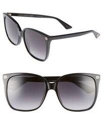 Gucci - 57mm Square Sunglasses - - Lyst