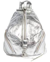 Rebecca Minkoff - Medium Julian Leather Backpack - Metallic - Lyst