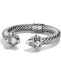 David Yurman - Renaissance Bracelet With Black Diamonds - Lyst