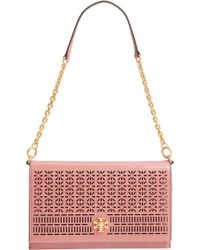 Tory Burch - Kira Perforated Leather Clutch - - Lyst