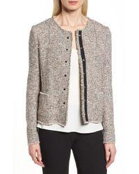 BOSS - Koralie Tweed Jacket - Lyst