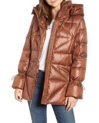 Kensie - Cinched Sleeve Puffer Jacket - Lyst