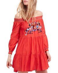 Free People - Sunbeams Minidress - Lyst
