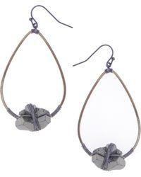 Nakamol - Pyrite Teardrop Earrings - Lyst