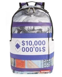 Sprayground - Purple Money Stacks Backpack - - Lyst