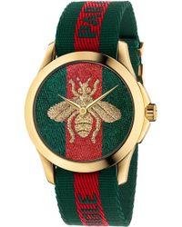 Gucci - Le Marche Des Merveilles Nylon Strap Watch - Lyst