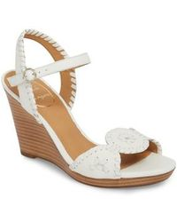 Jack Rogers - 'clare' Rope Wedge Leather Sandal - Lyst