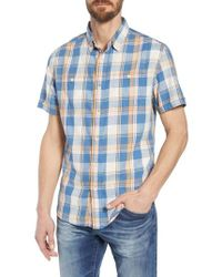 Grayers - Sherman Plaid Slub Twill Sport Shirt - Lyst