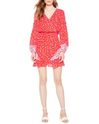 Parker Shona Floral Print Silk Dress