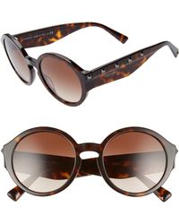 aee20cee4d18f Valentino 'floating Rockstud' 54mm Round Sunglasses - Bordeaux in ...