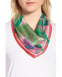 Echo - Tasman Palms Diamond Cut Silk Scarf - Lyst
