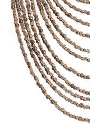 Karine Sultan - Joan Beaded Multistrand Necklace - Lyst